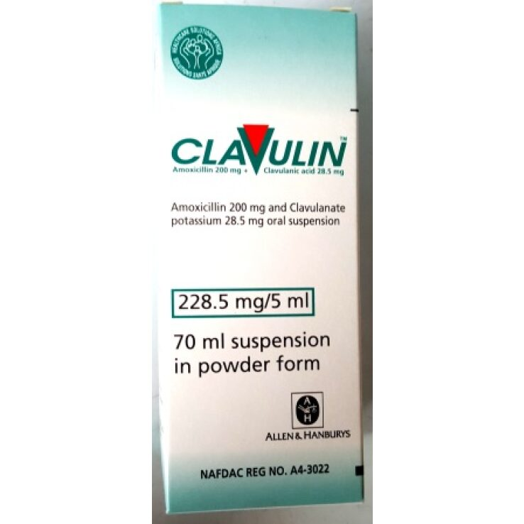CLAVULIN 228MG/5ML