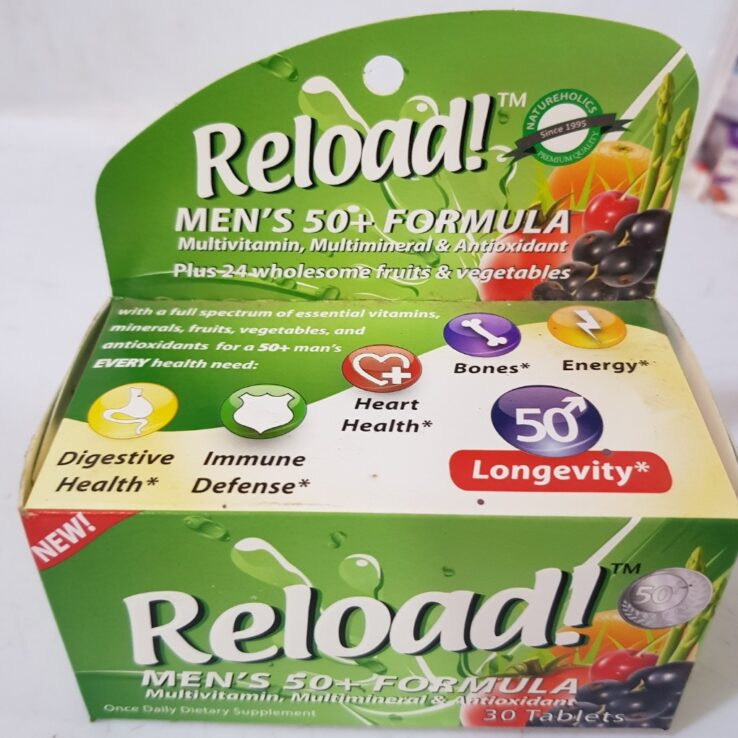 RELOAD FORMULA FOR MEN 50+ X30
