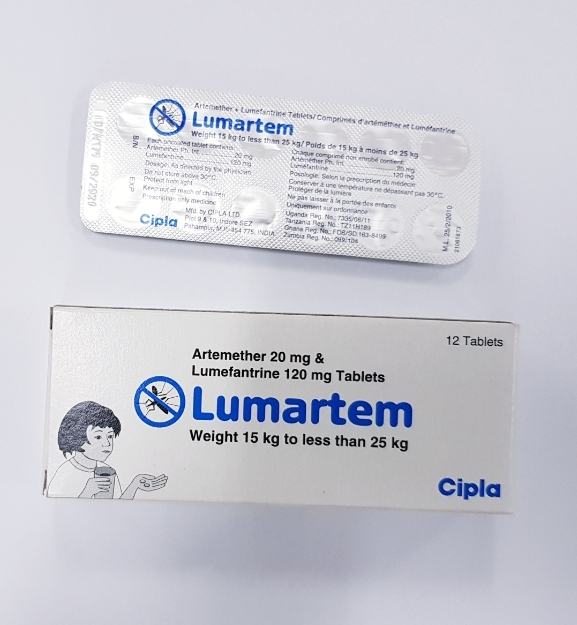 LUMARTEM (Artemether 20 mg & Lumefantrine 120mg 12 Tablets
