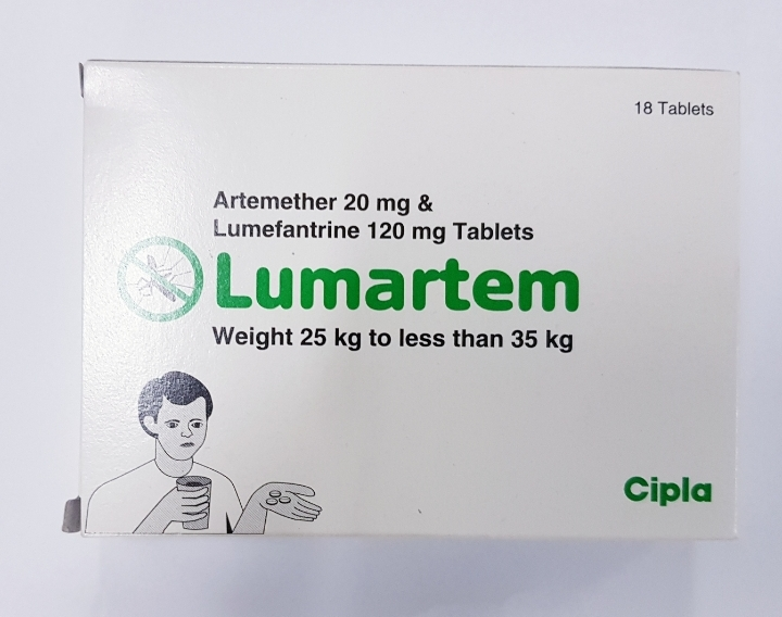 LUMARTEM (Artemether 20 mg & Lumefantrine 120mg X18 Tablets
