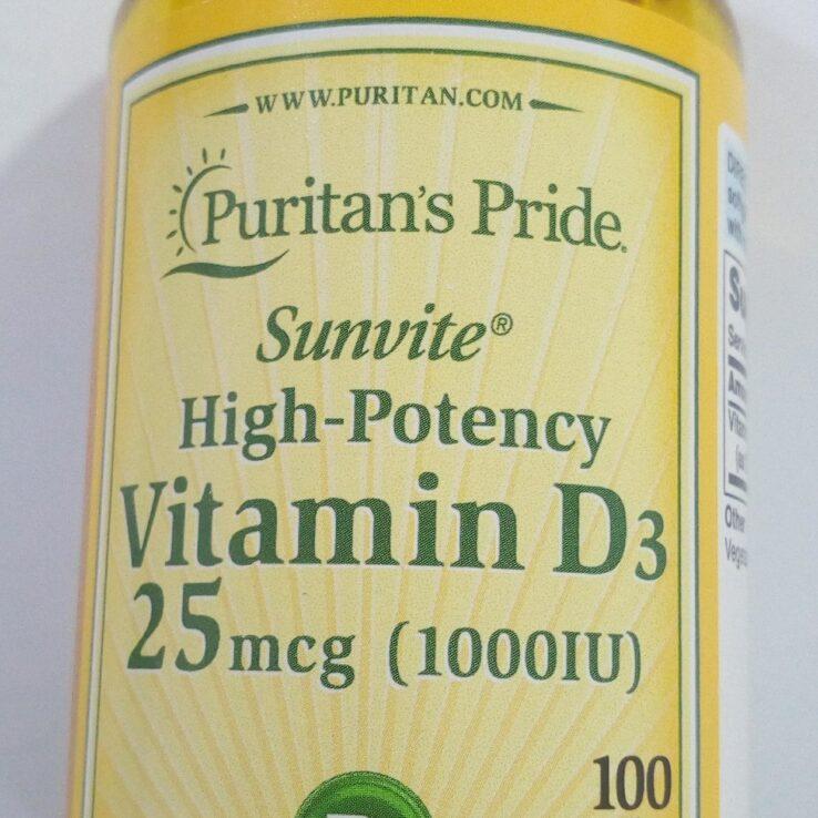 Puritan's pride Vitamin D3 25mcg(1000iu)