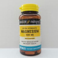 Mason natural Extra strength megnessium 500mg x100
