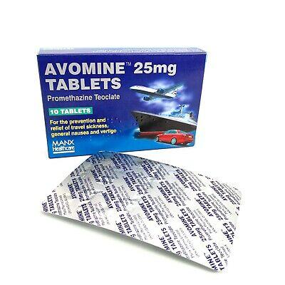Avomine 25mg tabs x10 (manx Health care)