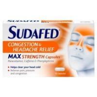 Sudafed Sinus max strength caps 12
