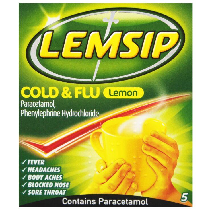 Lemsip cold and flu Lemon