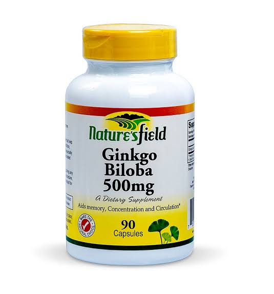 Nature's field Ginkgo Biloba 500mg