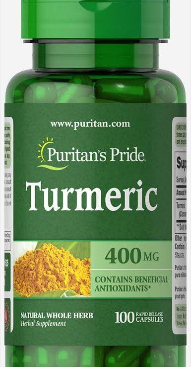 Puritan's Pride Turmeric 400mg