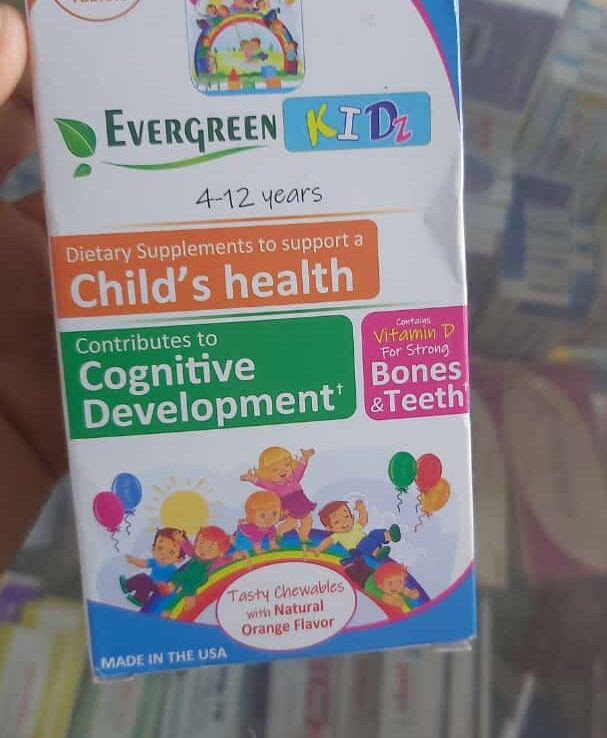 EVERGREEN KIDZ Chewable Tablets
