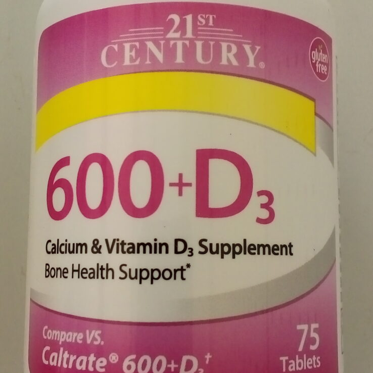 21st Century Calcium 600+D3 Tablet