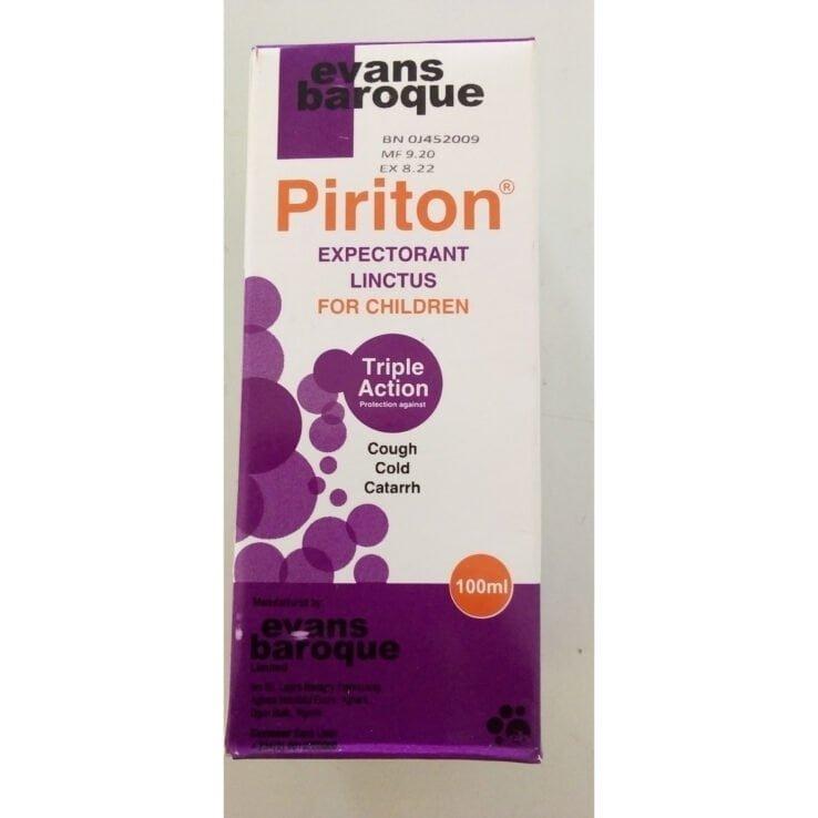 Piriton Expectorant Linctus For Children