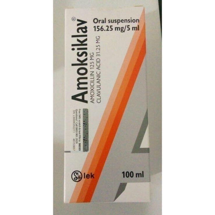 AMOKSIKLAV 156.25mg Oral Suspension